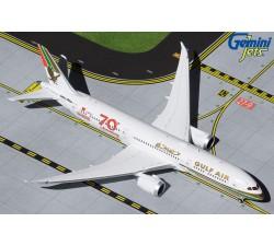 海灣航空 Gulf Air Boeing 787-9 七十週年彩繪機 1:400