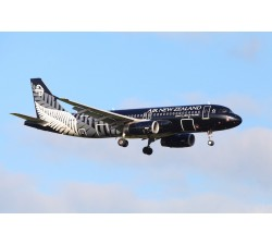 Poster - Air New Zealand A320 All Blacks ZK-OJR - Modelshop