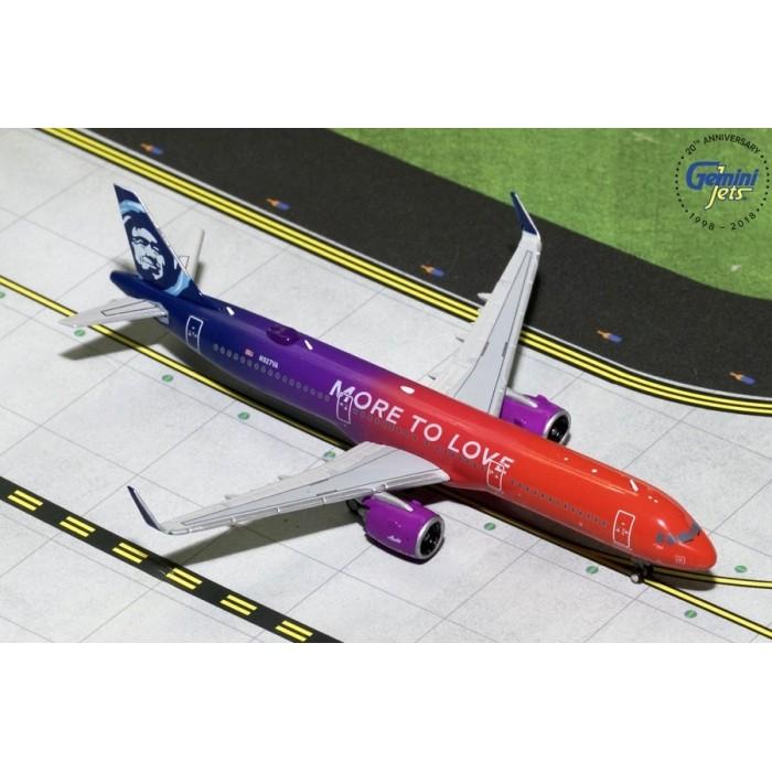 阿拉斯加航空 Alaska Airlines Airbus A321neo 'More to Love' 1:400