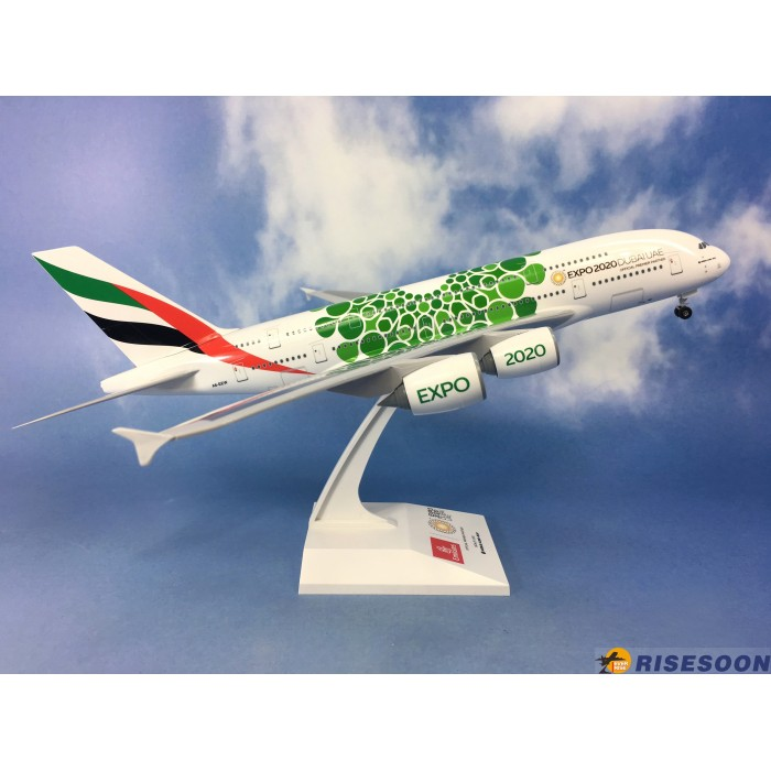 Emirates Airbus A380-800 (EXPO 2020, Green) 1:200