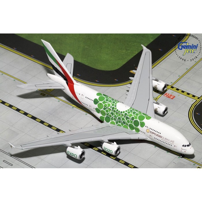 Emirates Airbus A380-800 (Expo 2020 Green) 1:400