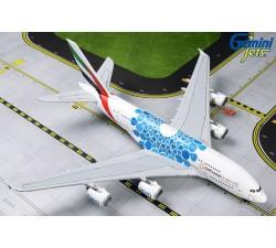 阿聯酋航空 Emirates Airbus A380-800 萬博彩繪機(藍) 1:400
