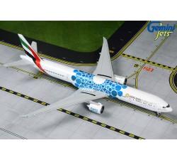 阿聯酋航空 Emirates Boeing 777-300ER 萬博彩繪機(藍) 1:400