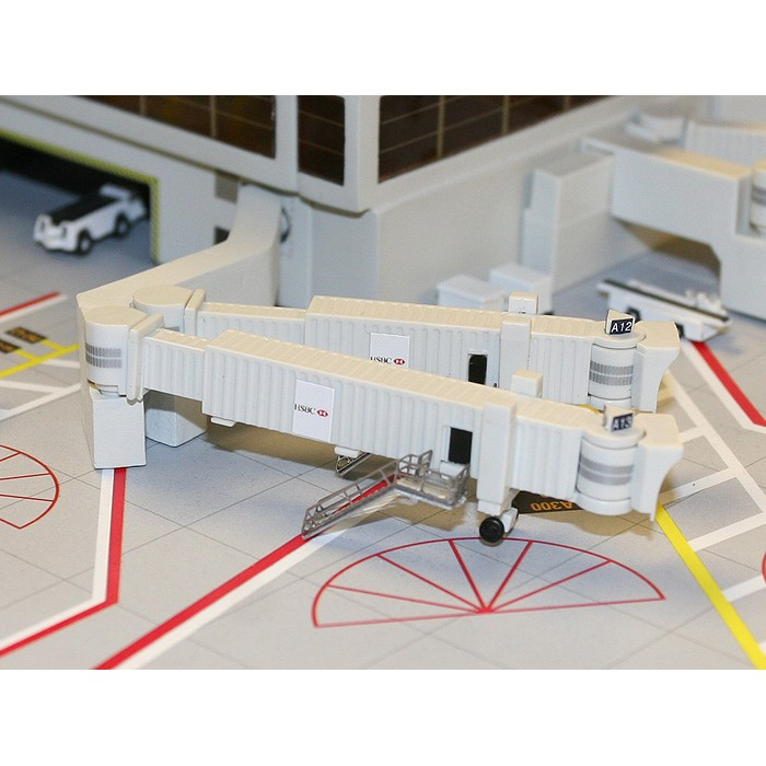 1:400 Airbridge Set - 3 Pack Dual wide Body Jet Bridges